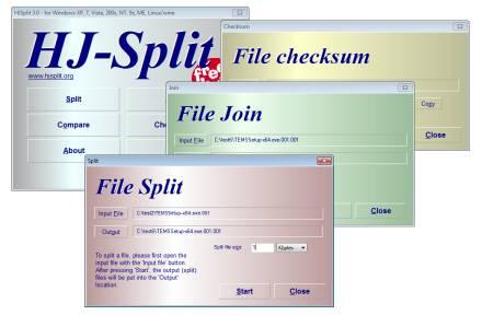 Foto HJSplit.exe : Freeware untuk Memecah dan Menggabungkan File
