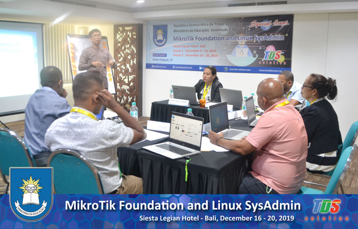 Foto training MikroTik Foundation and Linux SysAdmin [Group II]