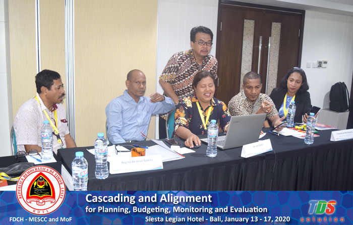 Foto training Cascading and Alignment for Planning, Budgeting, Monitoring and Evaluation