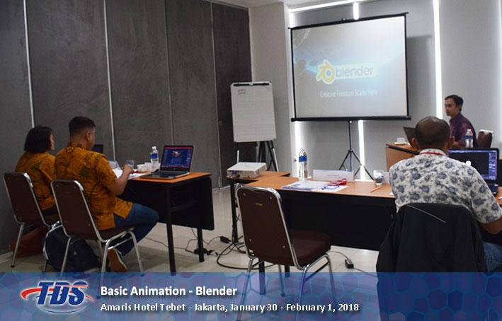 Foto training Animasi 3D Menggunakan Blender - Dasar